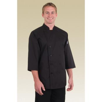 CFWS100BLKXS - Chef Works - S100-BLK-XS - Black Chef Shirt (XS) Product Image
