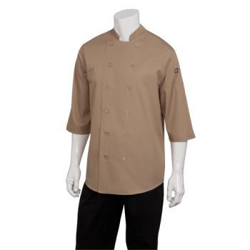 CFWS100KHAXL - Chef Works - S100-KHA-XL - Khaki Chef Shirt (XL) Product Image