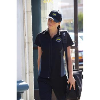 CFWCSWCBLM2XL - Chef Works - CSWC-BLM-2XL - Women's Cool Vent Black/Gray Shirt (2XL) Product Image