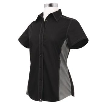 CFWCSWCBLML - Chef Works - CSWC-BLM-L - Women's Cool Vent Black/Gray Shirt (L) Product Image