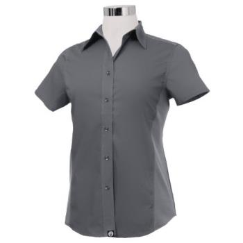 CFWCSWVGRYL - Chef Works - CSWV-GRY-L - Women's Cool Vent Gray Shirt (L) Product Image