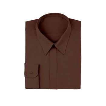 CFWW100CHOL - Chef Works - W100-CH0-L - Women's Chocolate Dress Shirt (L) Product Image