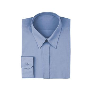 CFWW100FRBL - Chef Works - W100-FRB-L - Women's French Blue Dress Shirt (L) Product Image