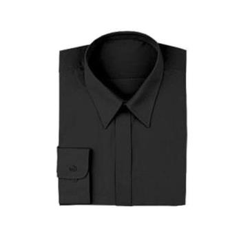 CFWW150BLKXS - Chef Works - W150-BLK-XS - Black Women's Server Dress Shirt (XS) Product Image