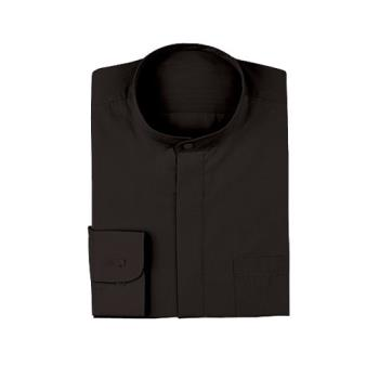 CFWW200BLKL - Chef Works - W200-BLK-L - Women's Black Banded-Collar Dress Shirt (L) Product Image