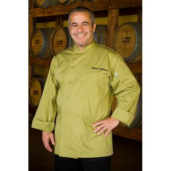 CFW2833LIM5XL - Chef Works - 2833-LIM-5XL - Genova Lime Chef Coat (5XL) Product Image