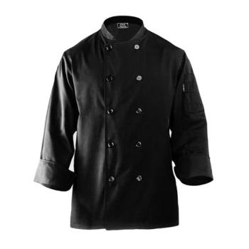 CFWBASTBLK2XL - Chef Works - BAST-BLK-2XL - Bastille Black Chef Coat (2XL) Product Image