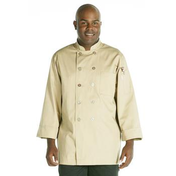 CFWCCBAKHA4XL - Chef Works - CCBA-KHA-4XL - Cyprus Khaki Chef Coat (4XL) Product Image