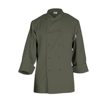 CFWCCBAOLIL - Chef Works - CCBA-OLI-L - Perugia Olive Chef Coat  (L) Product Image