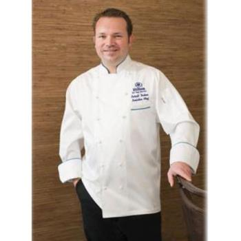 CFWECCAS38 - Chef Works - ECCA-S-38 - Carlton Chef Coat (S) Product Image
