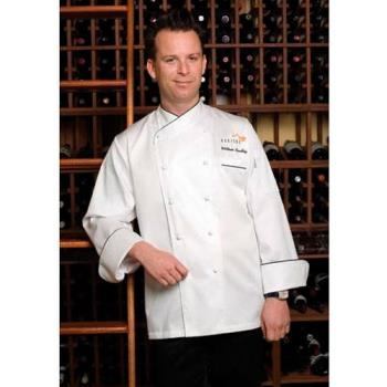 CFWECCBXL48 - Chef Works - ECCB-XL-48 - Monte Carlo Chef Coat (XL) Product Image