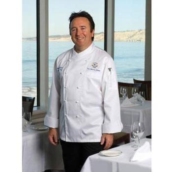 CFWECCW4XL62 - Chef Works - ECCW-4XL-62 - Milan Chef Coat (4XL) Product Image