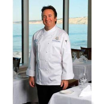 CFWECCWXL48 - Chef Works - ECCW-XL-48 - Milan Chef Coat (XL) Product Image