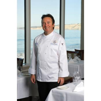 CFWECCWXL50 - Chef Works - ECCW-XL-50 - Milan Chef Coat (XL) Product Image