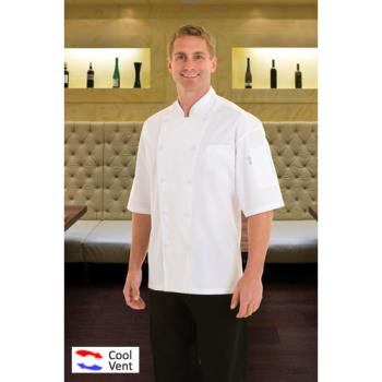 CFWEWCV3XL - Chef Works - EWCV-3XL - Palermo Chef Coat (3XL) Product Image