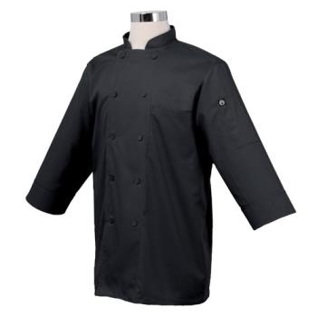 81932 - Chef Works - JLCL-BLK - Cool Vent Black 3/4 Sleeve Coat (L) Product Image