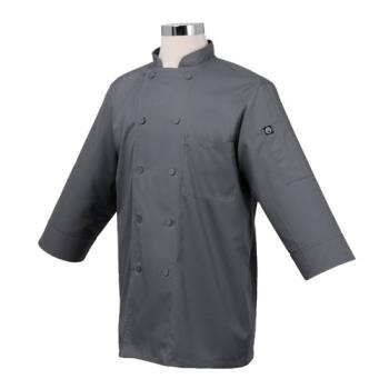 81936 - Chef Works - JLCL-GRY-2XL - (2XL) Gray 3/4 Sleeve Coat Product Image