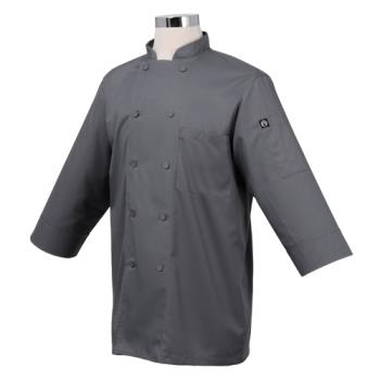 CFWJLCLGRY3XL - Chef Works - JLCL-GRY-3XL - (3XL) Gray 3/4 Sleeve Coat Product Image