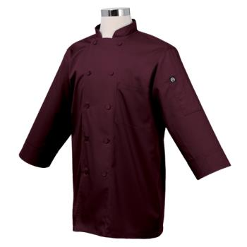 CFWJLCLMERXS - Chef Works - JLCL-MER - (XS) Merlot 3/4 Sleeve Coat Product Image