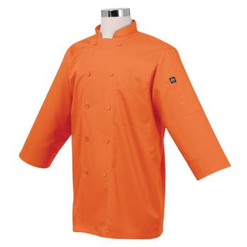 CFWJLCLORAM - Chef Works - JLCL-ORA - Cool Vent Orange 3/4 Sleeve Coat (M) Product Image