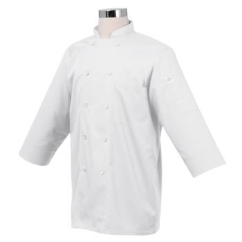 CFWJLCLWHT3XL - Chef Works - JLCL-WHT-3XL - (3XL) White 3/4 Sleeve Coat Product Image