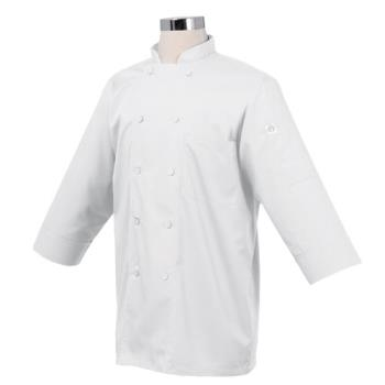 81947 - Chef Works - JLCL-WHT - (L) White 3/4 Sleeve Coat Product Image