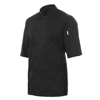 81951 - Chef Works - JLCV-BLK-2XL - Montreal Black Chef Coat (2XL) Product Image
