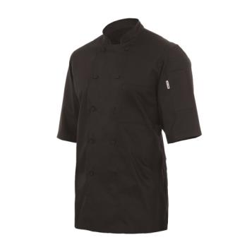 CFWJLCVBLK4XL - Chef Works - JLCV-BLK-4XL - Black Montreal Chef Coat (4XL) Product Image