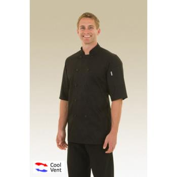 81737 - Chef Works - JLCV-BLK-XL - Montreal Black Chef Coat (XL) Product Image