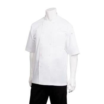 81953 - Chef Works - JLCV-WHT-2XL - Montreal White Chef Coat (2XL) Product Image