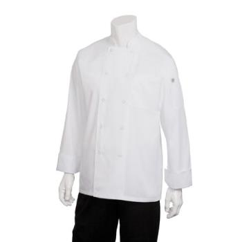 38176 - Chef Works - JLLS-WHT-M - Medium White Calgary Cool Vent Chef Coat Product Image