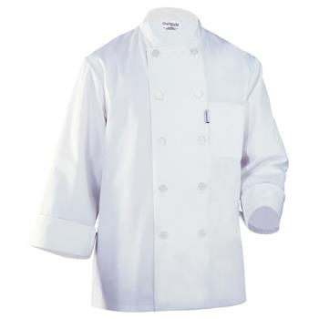 81574 - Chef Works - WCCW-WHT-S - LeMans Chef Coat (S) Product Image