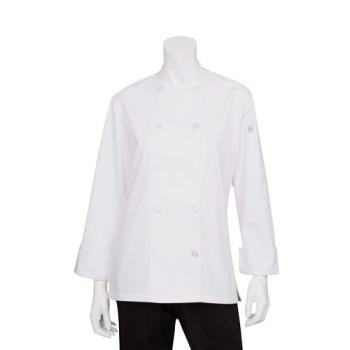 CFWBCW0043XL - Chef Works - BCW004-3XL - Women's Basic Chef Coat (3XL) Product Image