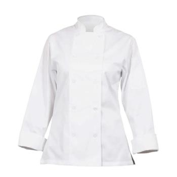 81924 - Chef Works - CWLJ-WHT-S - Women's Marbella White Chef Coat (S) Product Image