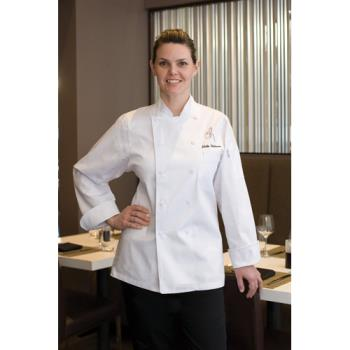CFWWECCWHTL - Chef Works - WECC-WHT-L - Women's St. Tropez Chef Coat (L) Product Image