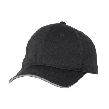 81901 - Chef Works - BCCT-GRY - Cool Vent Black/Gray Baseball Cap  Product Image
