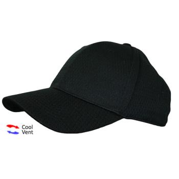 CFWBCCVBLK - Chef Works - BCCV-BLK - Cool Vent Black Baseball Cap Product Image