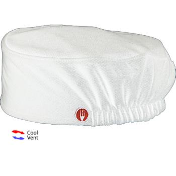 81649 - Chef Works - DFAO-WHT - Total Vent White Beanie Product Image