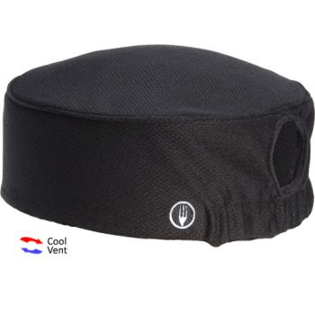 75914 - Chef Works - DFAOW-BLK - Women's Total Vent Black Beanie Product Image