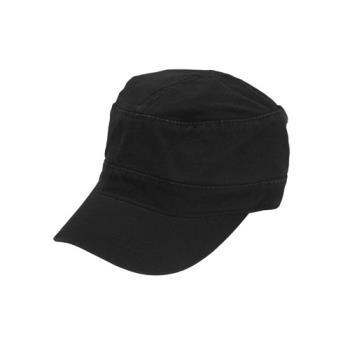 38168 - Chef Works - HC007-BLK - Black Military Cap Product Image