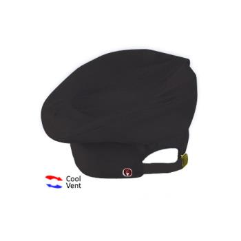 CFWTOCVBLK - Chef Works - TOCV-BLK - Cool Vent Black Toque Product Image