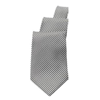 CFWTPASBSI - Chef Works - TPAS-BSI - Black/Silver Stripe Tie Product Image