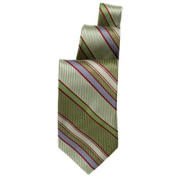 CFWTPSTGNG - Chef Works - TPST-GNG - Green/Burgundy Stripe Tie Product Image