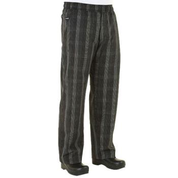 CFWBPLDBLKL - Chef Works - BPLD-BLK-L - Black Plaid Chef Pants (L) Product Image