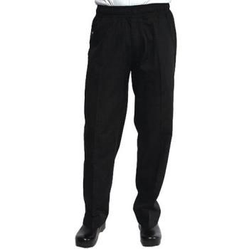 CFWBSOLBLKXL - Chef Works - BSOL-BLK-XL - Black Chef Pants (XL) Product Image