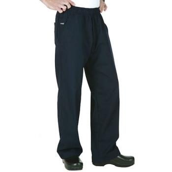 CFWBSOLNAVS - Chef Works - BSOL-NAV-S - Navy Chef Pants (S) Product Image
