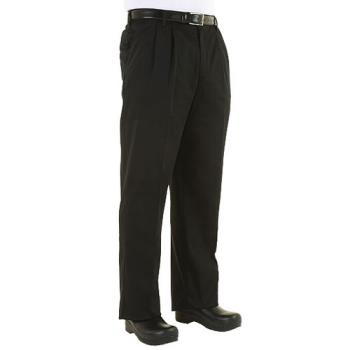 CFWCEBPS30 - Chef Works - CEBP-S - Black Chef Pants (S) Product Image