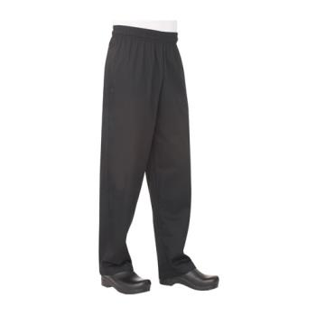 81587 - Chef Works - NBBP-XL - Black Baggy Chef Pants (XL) Product Image