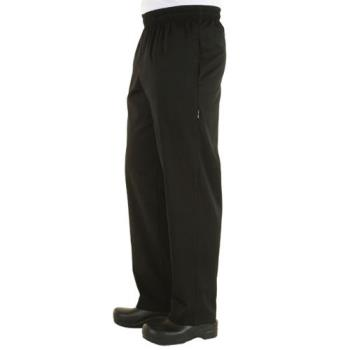 CFWNBBZBLKL - Chef Works - NBBZ-BLK-L - Black Baggy Chef Pants (L) Product Image