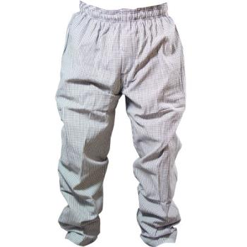 81590 - Chef Works - NBCP-L - Checked Baggy Chef Pants (L) Product Image